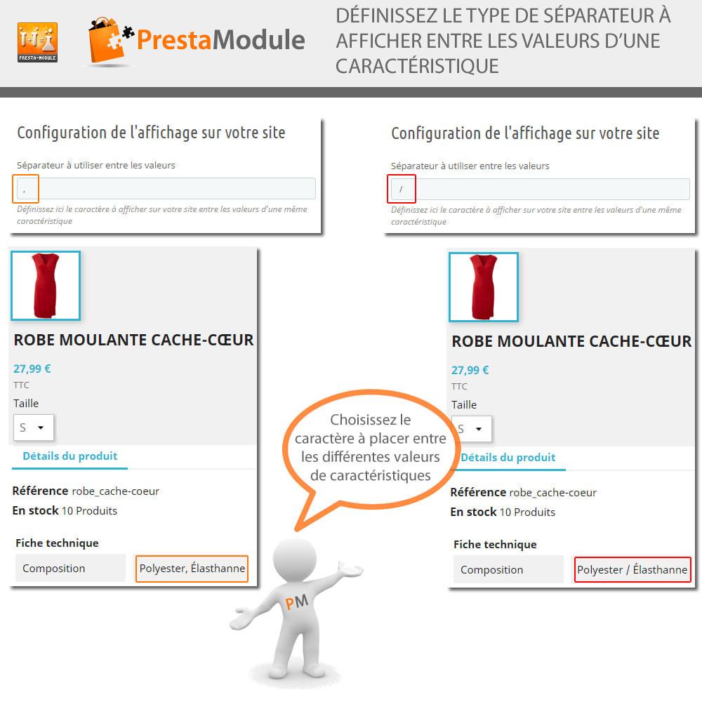 module - Recherche & Filtres - Multiple Features - Caractéristiques sans limite - 4