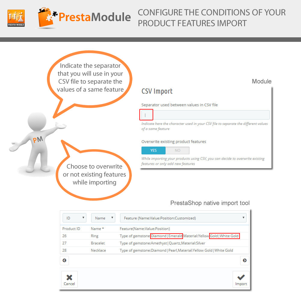 module - Suche & Filter - Multiple Features+Import Unbegrenzt Merkmale hinzufügen - 5