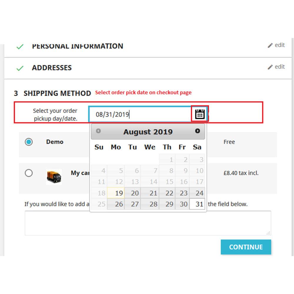 module - Punto di raccolta & Ritiro in negozio - Order Pickup Date (Delivery Date) - 3