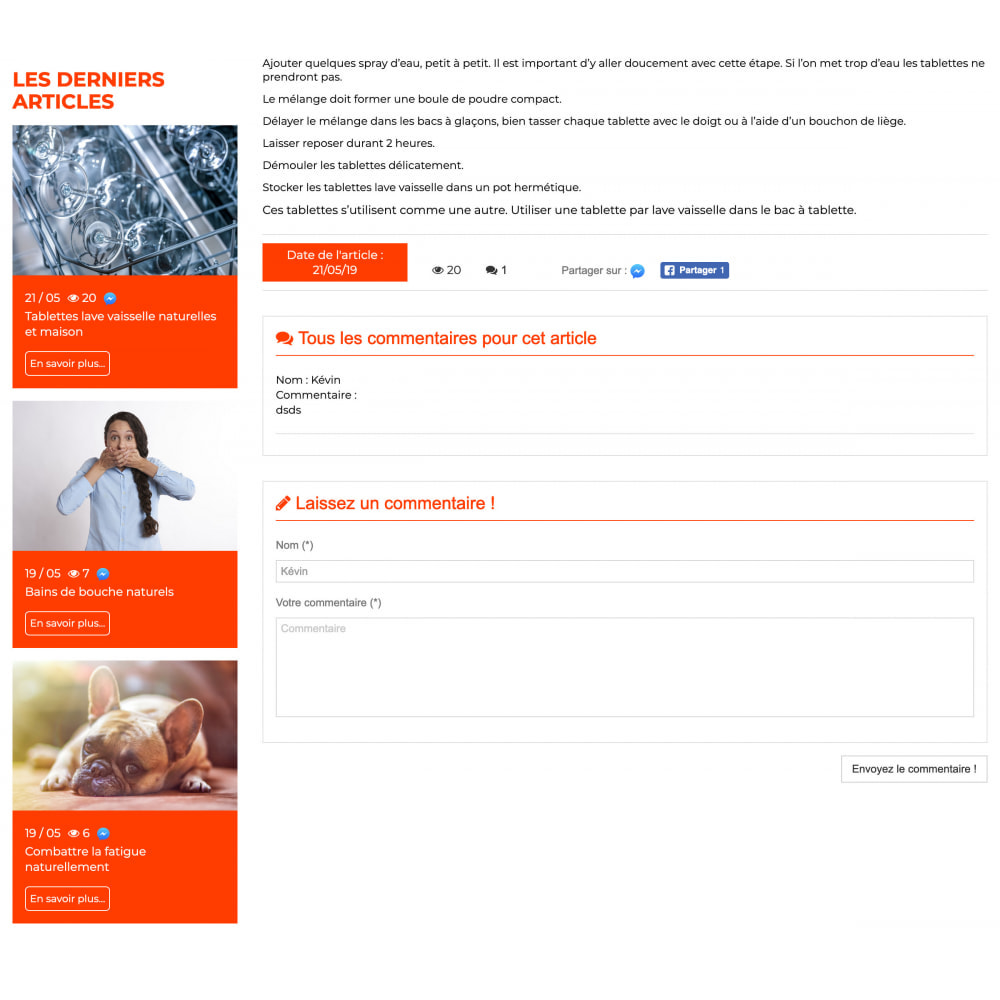 module - Blog, Forum & Actualités - Presta Blog - 4