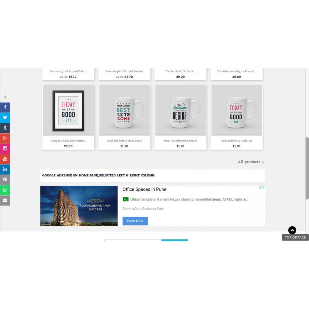 module - Виджеты для социальных сетей - Кнопки ссылок в боковой панели социальных сетей - 1