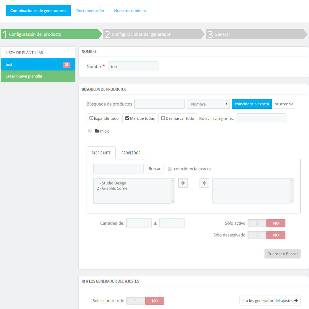 module - Edición Rápida y Masiva - Masa / Masa crear productos combinados - 2
