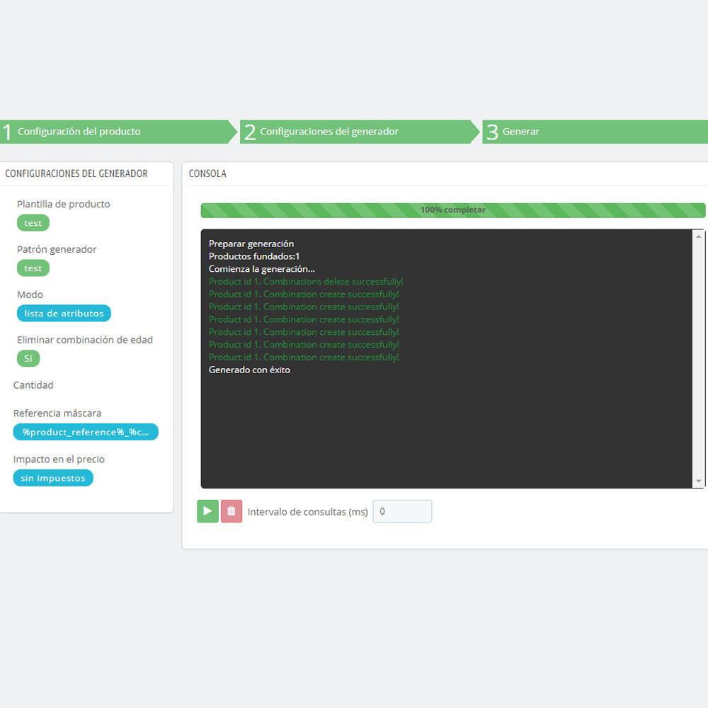 module - Edición Rápida y Masiva - Masa / Masa crear productos combinados - 8