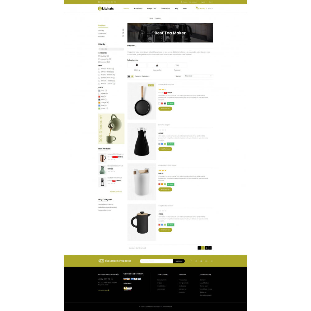 theme - Dom & Ogród - Kitchats - Kitchen Accessories Store - 4
