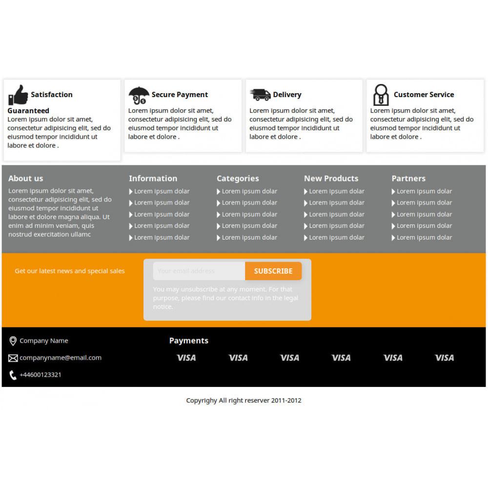 module - Personalizacja strony - Modern Footer - 3