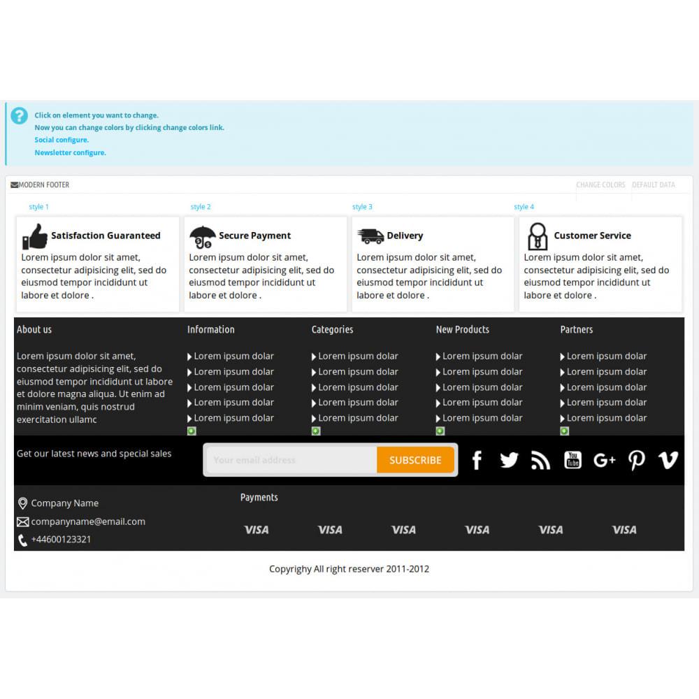 module - Personalizacja strony - Modern Footer - 5