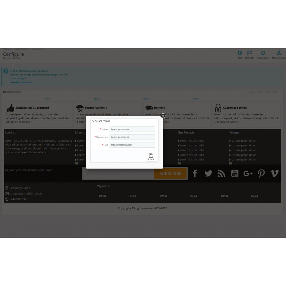 module - Personalizacja strony - Modern Footer - 9
