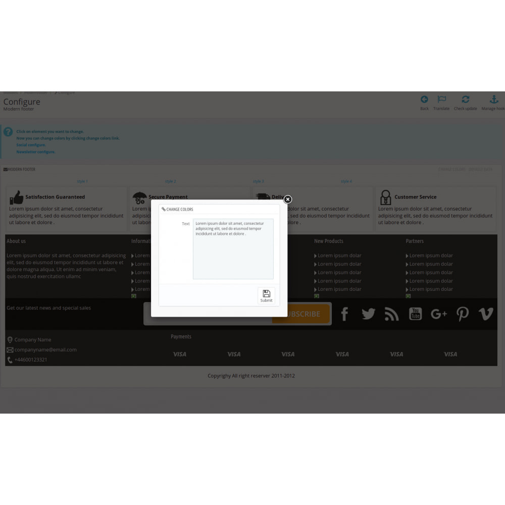 module - Personalizacja strony - Modern Footer - 10