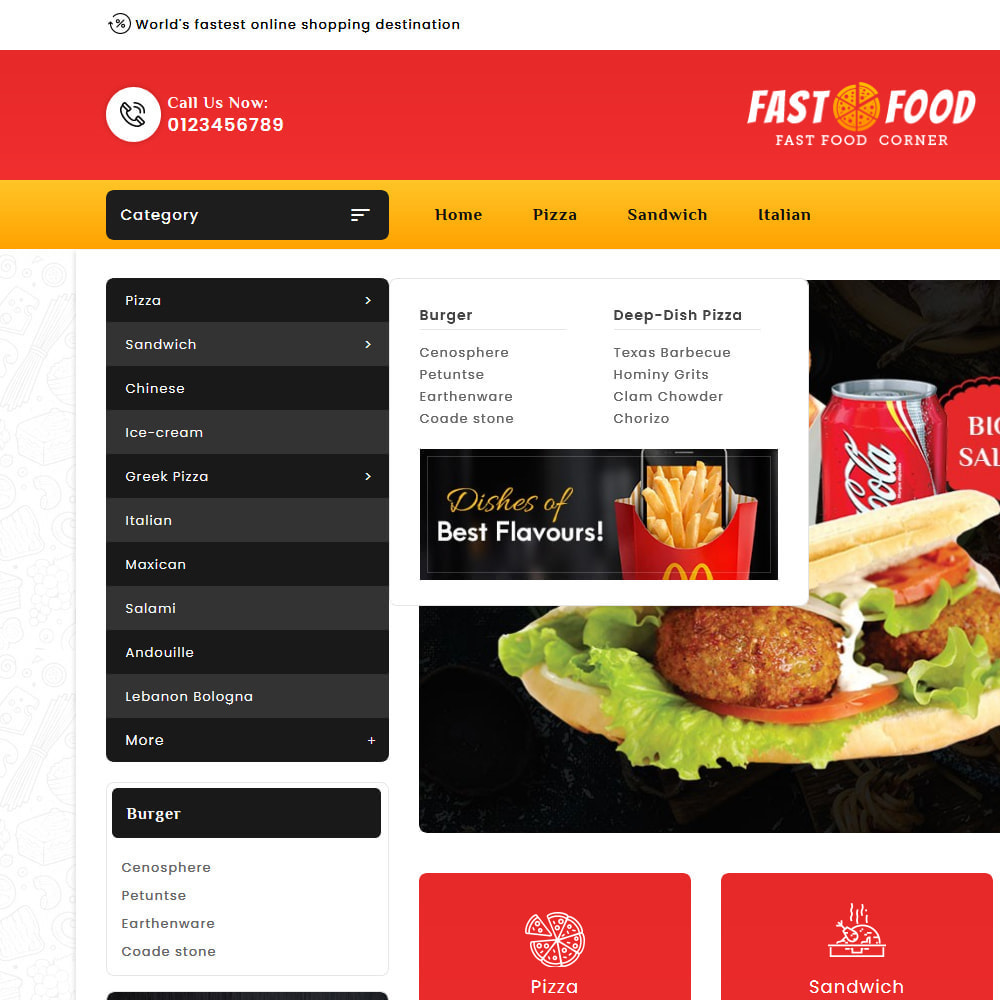 theme - Eten & Restaurant - Fast Food & Dinks Corner - 9