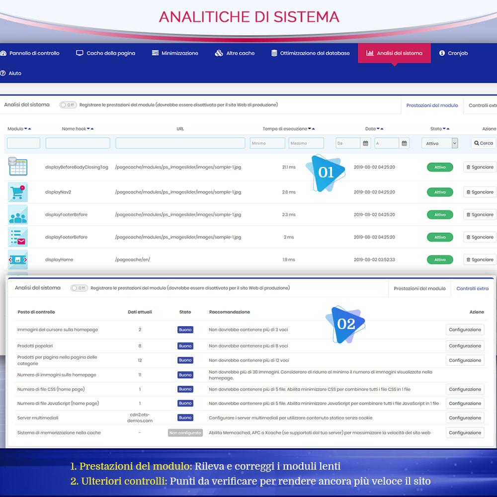module - Website Performance - Page Cache Pro - Ottimizzazione della velocità e SEO - 9