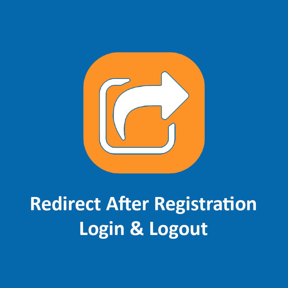 module - Логин / Подключение - Redirect After Registration, Login & Logout - 1