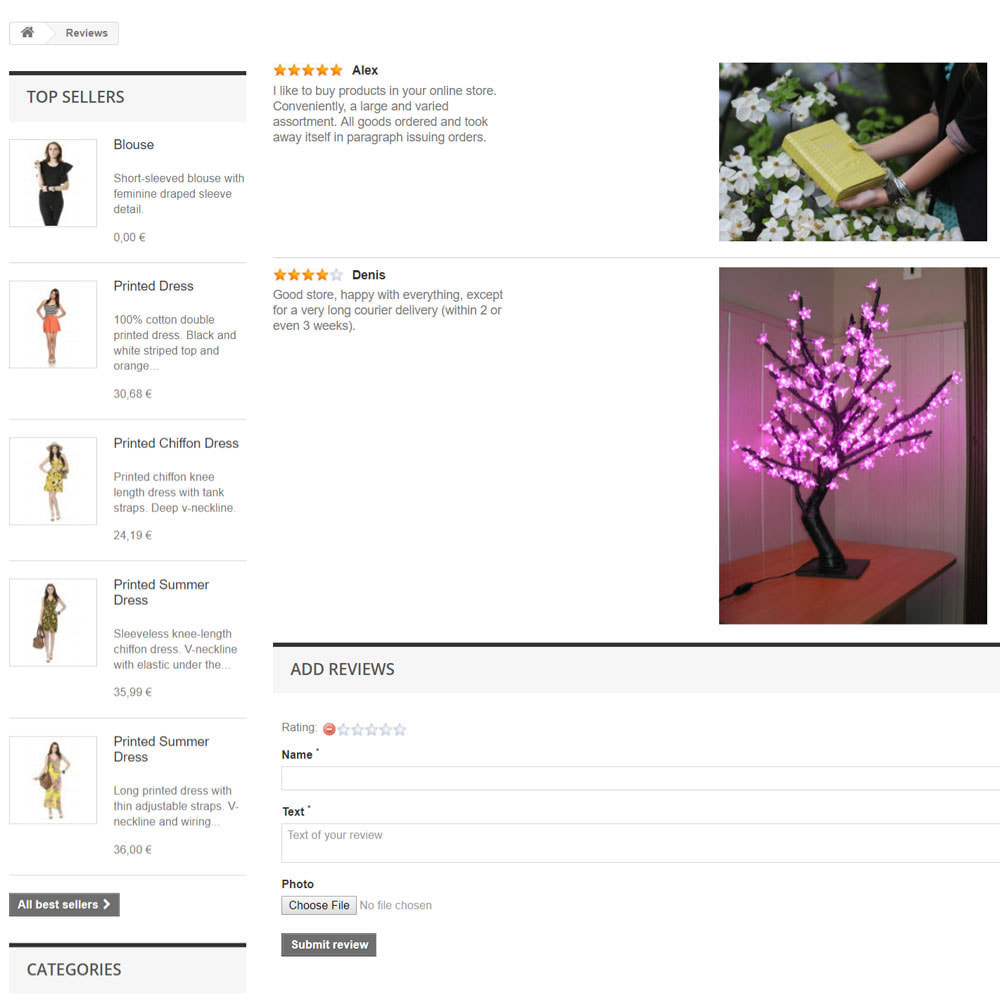 module - Recensioni clienti - Reviews about your store / product - 8