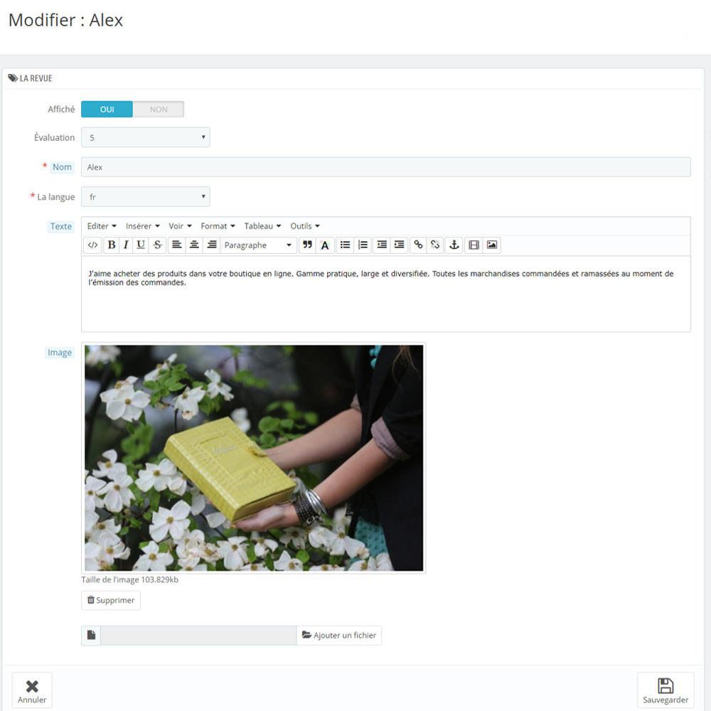 module - Avis clients - Avis sur votre shop / produit - 10