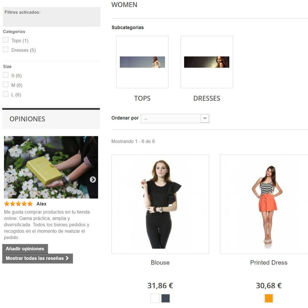module - Comentarios de clientes - Comentarios sobre su tienda / producto - 6