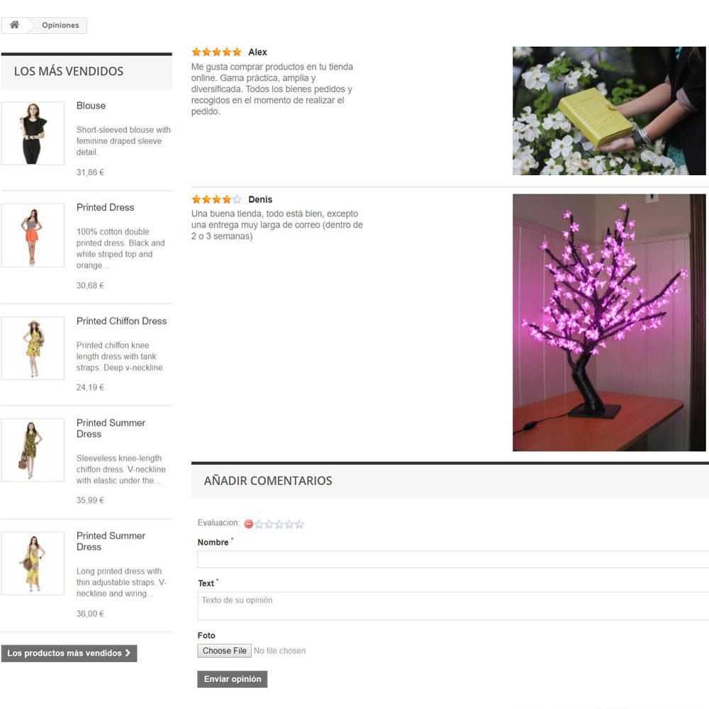 module - Comentarios de clientes - Comentarios sobre su tienda / producto - 8