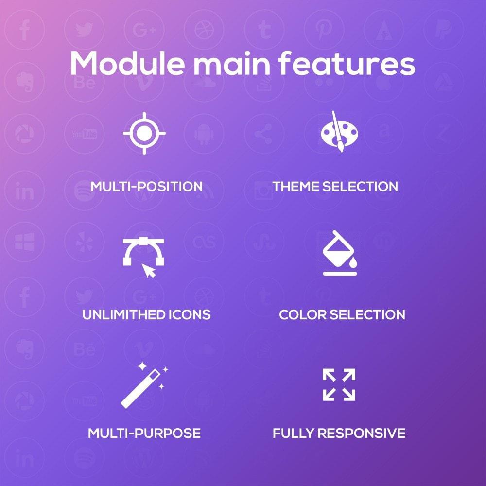 module - Виджеты для социальных сетей - Smart Social Media Buttons (Icons), Multi-themes - 1