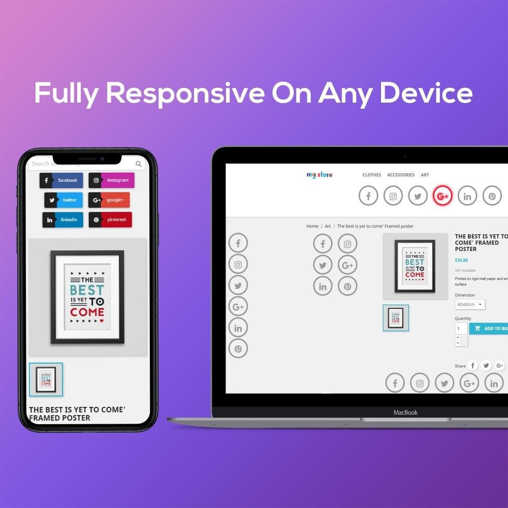 module - Виджеты для социальных сетей - Smart Social Media Buttons (Icons), Multi-themes - 2