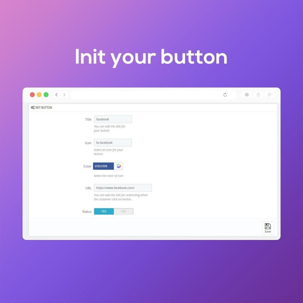 module - Виджеты для социальных сетей - Smart Social Media Buttons (Icons), Multi-themes - 5