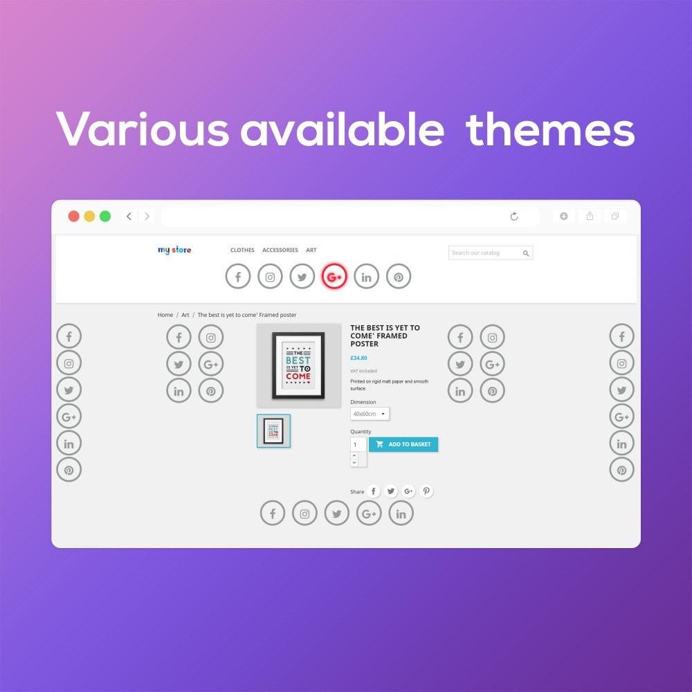 module - Виджеты для социальных сетей - Smart Social Media Buttons (Icons), Multi-themes - 8