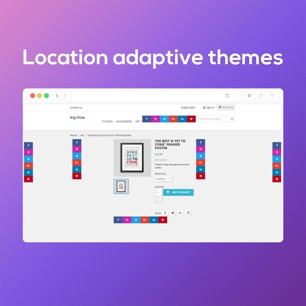 module - Виджеты для социальных сетей - Smart Social Media Buttons (Icons), Multi-themes - 9