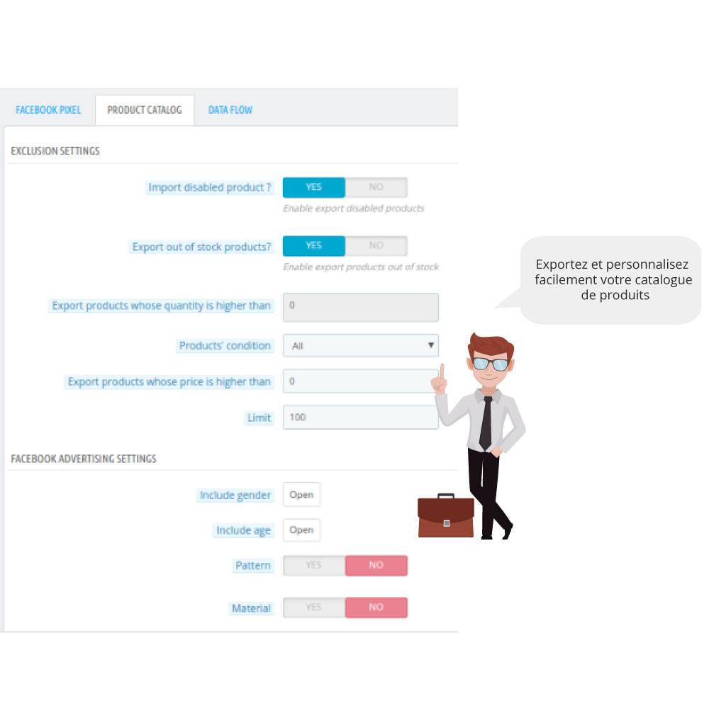 module - Produits sur Facebook & réseaux sociaux - Catalogue & Pixel pour Dynamic Ads & Boutique - 1