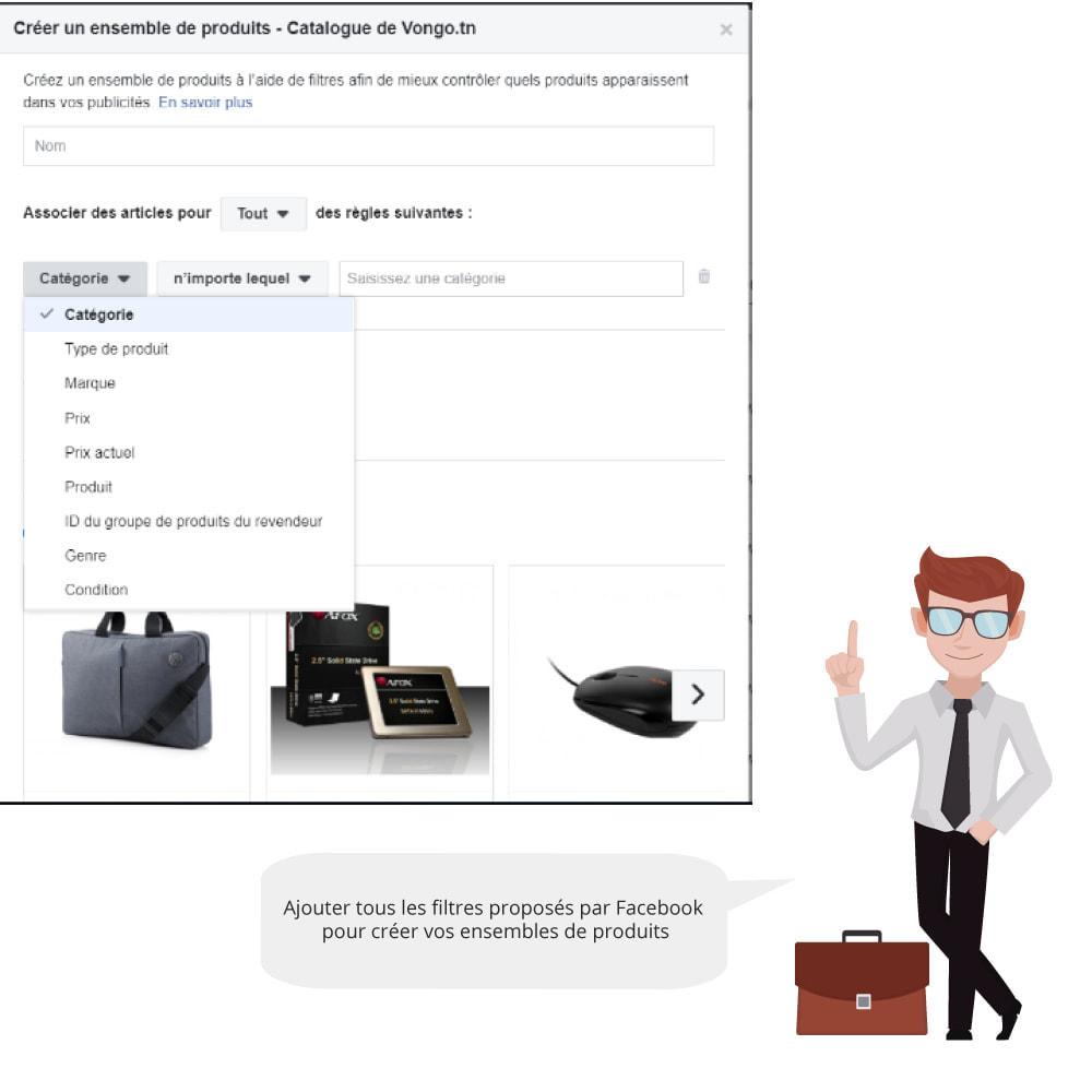 module - Produits sur Facebook & réseaux sociaux - Catalogue & Pixel pour Dynamic Ads & Boutique - 4