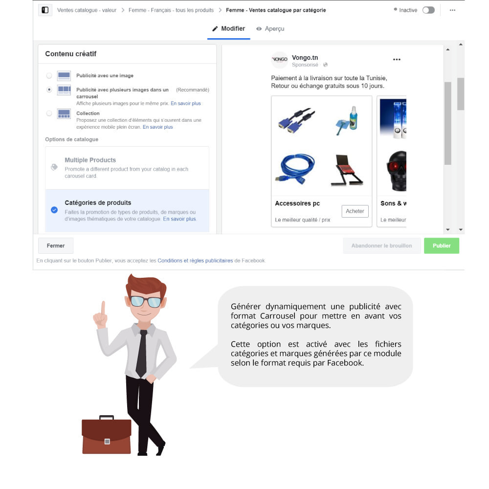 module - Produits sur Facebook & réseaux sociaux - Catalogue & Pixel pour Dynamic Ads & Boutique - 6