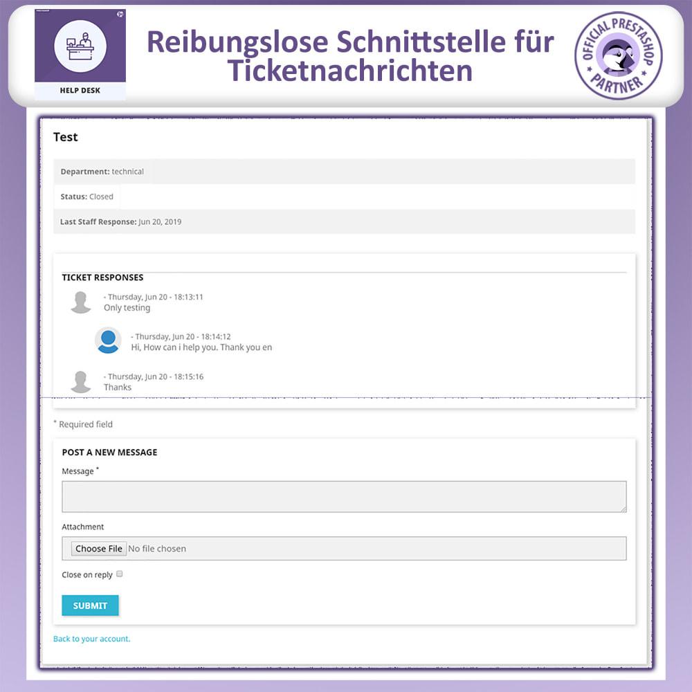 module - Kundenservice - Helpdesk – Kundensupport Verwaltungssystem-Module - 5