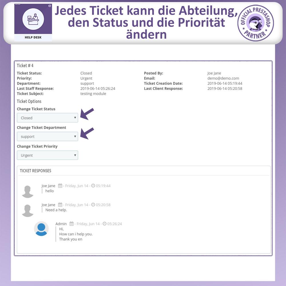 module - Kundenservice - Helpdesk – Kundensupport Verwaltungssystem-Module - 9