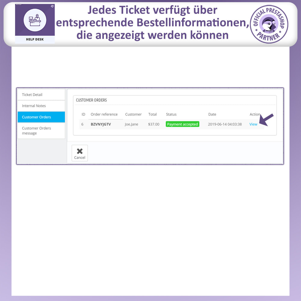 module - Kundenservice - Helpdesk – Kundensupport Verwaltungssystem-Module - 12