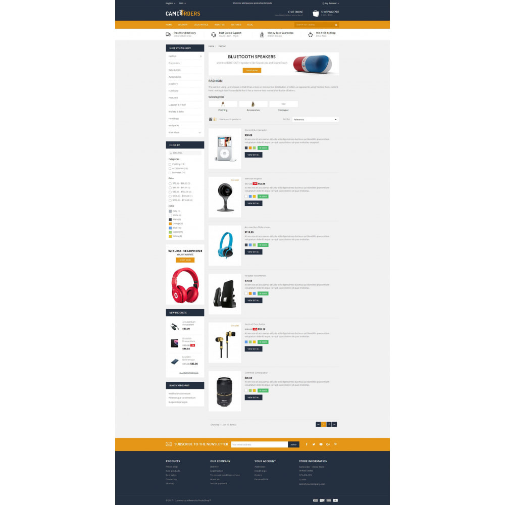 theme - Elektronika & High Tech - Camcorder - Electronic Store - 4