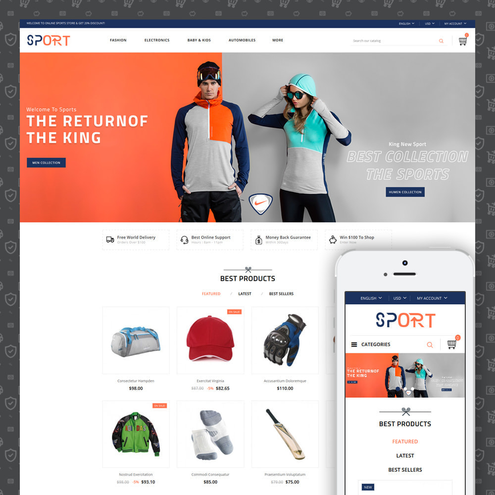 theme - Sports, Activities & Travel - Sports Kit Store - 1