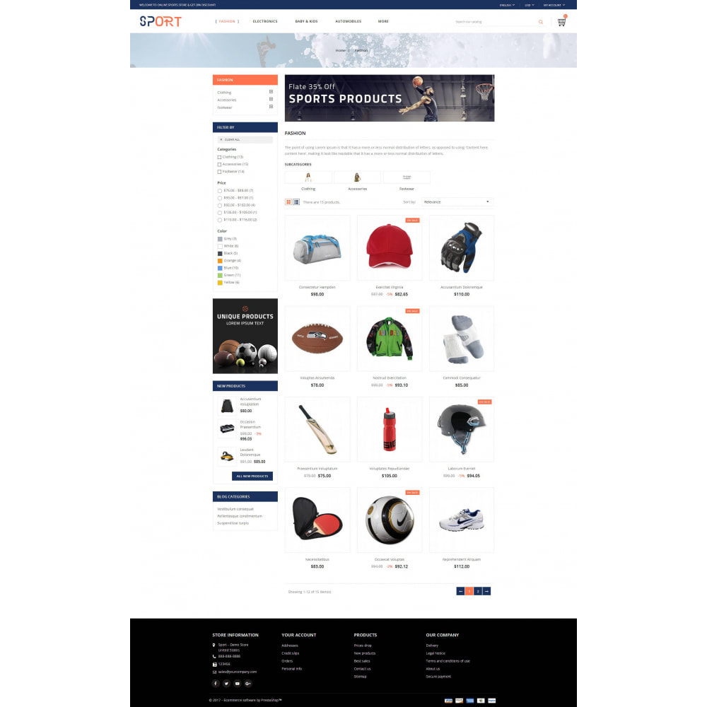 theme - Sports, Activities & Travel - Sports Kit Store - 3