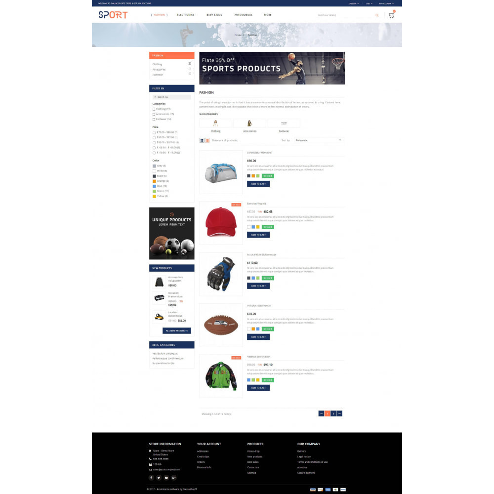theme - Sports, Activities & Travel - Sports Kit Store - 4