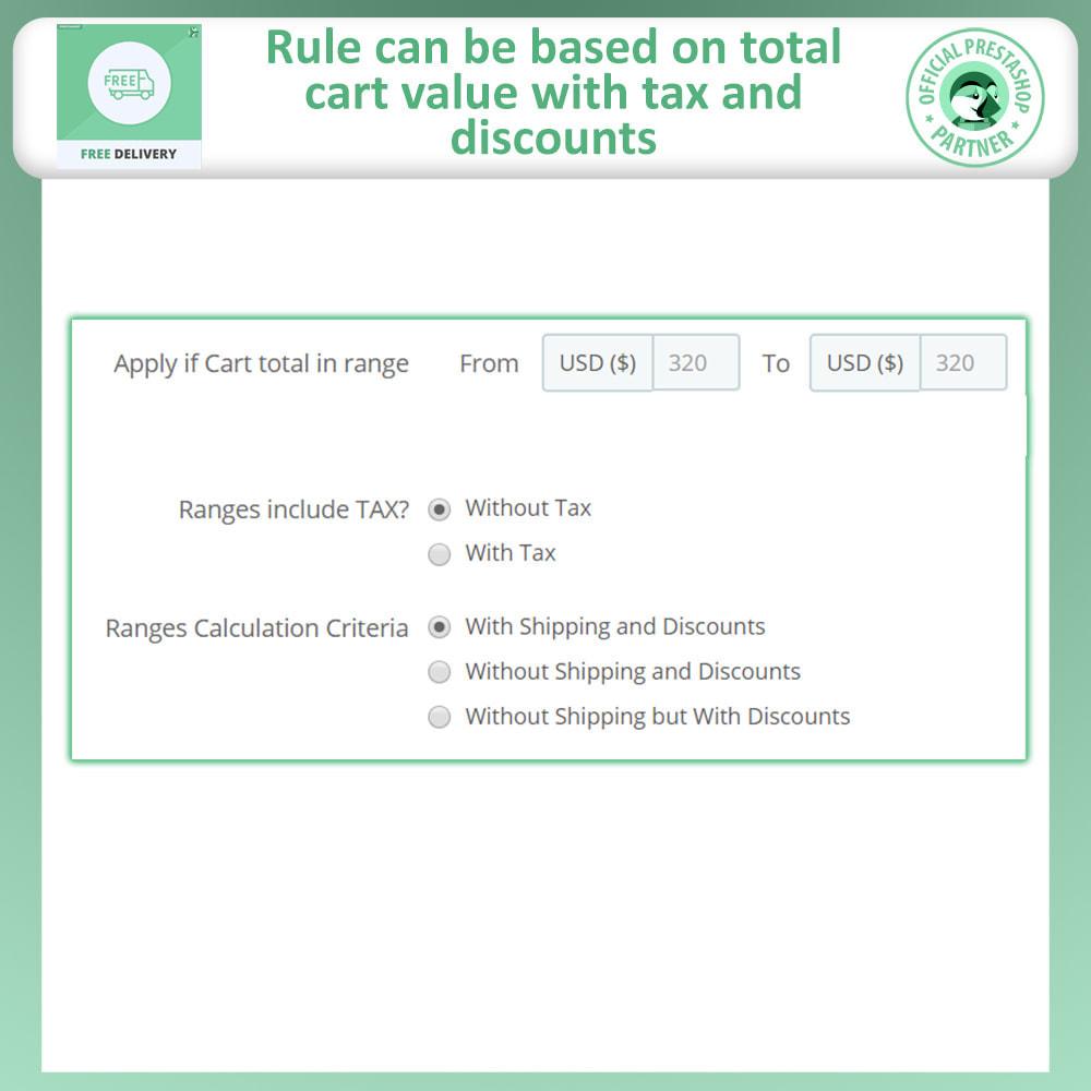module - Custo de frete - Advance Free Shipping - 5