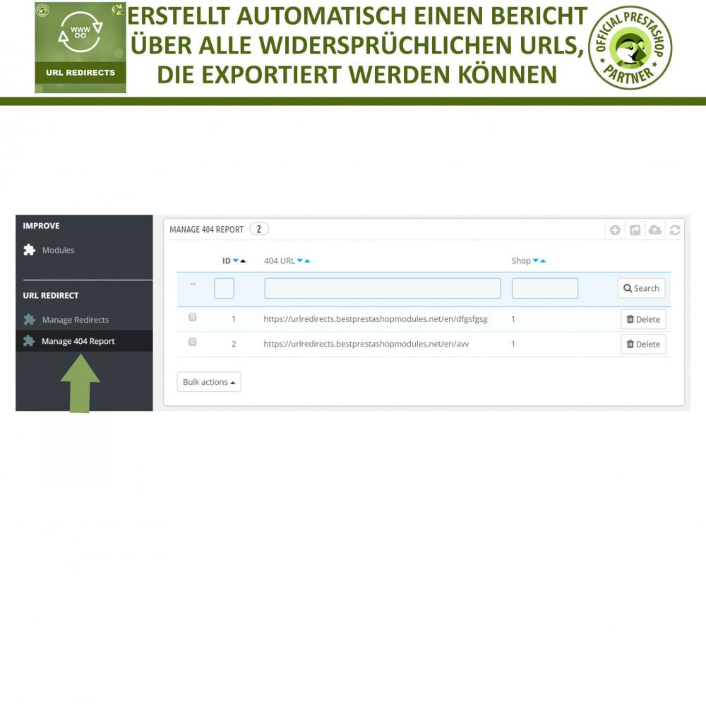 module - URL & Redirects - URL Umleitung, Verwalten Sie 301, 302, 303 & 404 URLs - 5