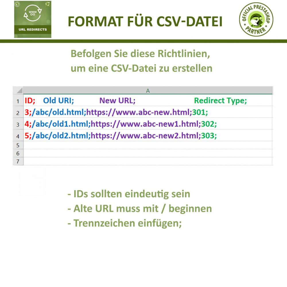 module - URL & Redirects - URL Umleitung, Verwalten Sie 301, 302, 303 & 404 URLs - 6