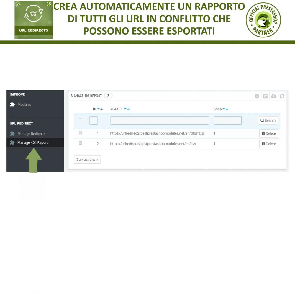 module - URL & Redirect - URL Redirects, Reindirizzamenti 301, 302, 303, 404 URLs - 5