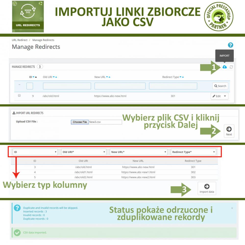 module - URL & Przekierowania - Przekierowania URL – 301, 302, 303 i 404 URLs - 4