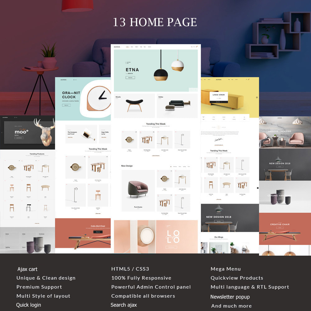 theme - Dom & Ogród - Auros Minimal - Furniture & Interior Home Decor - 1