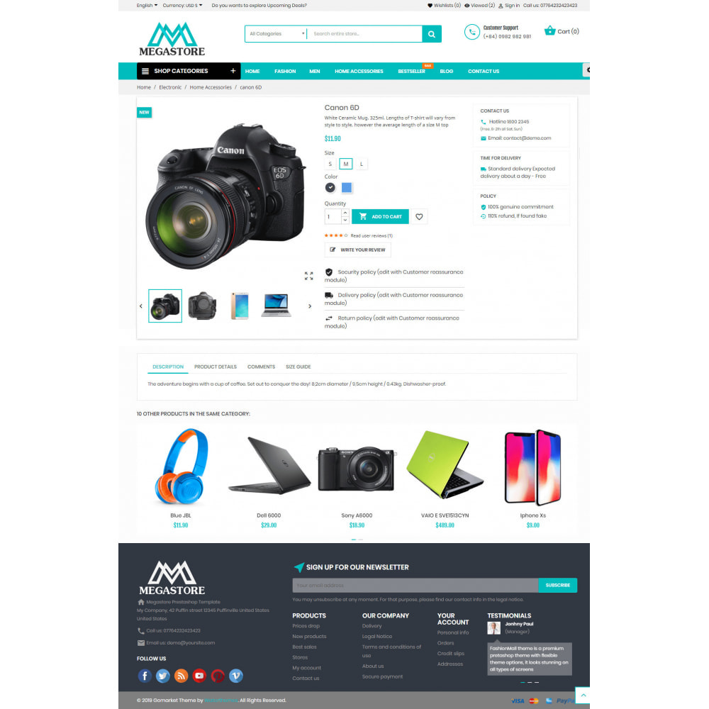 theme - Eletrônicos & High Tech - Mega shop online - 5