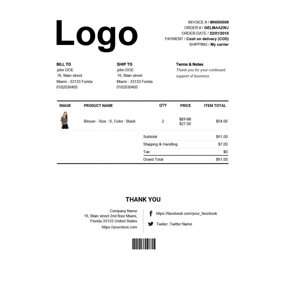 module - Contabilidade & Cobrança - Advance Invoice, Delivery, Credit PDF + Custom Number - 3