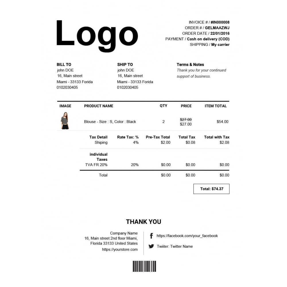 module - Contabilidade & Cobrança - Advance Invoice, Delivery, Credit PDF + Custom Number - 4
