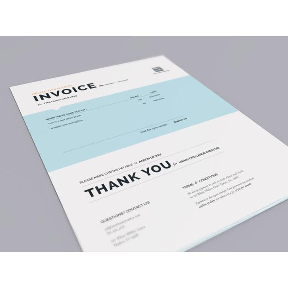 module - Buchhaltung & Rechnung - Rechnung, Lieferung, Gutschrift PDF + Kundenummer - 14
