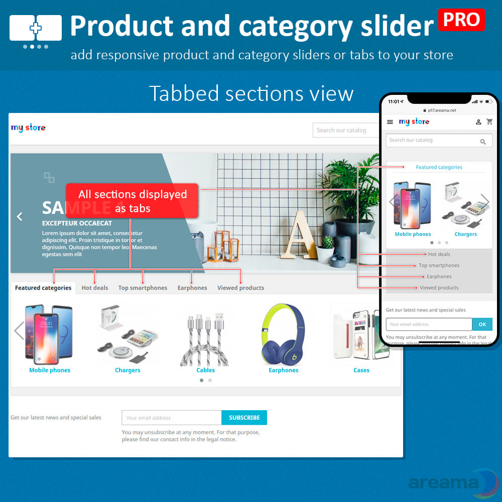module - Zusatzinformationen & Produkt-Tabs - Product slider PRO + categories + related products - 6