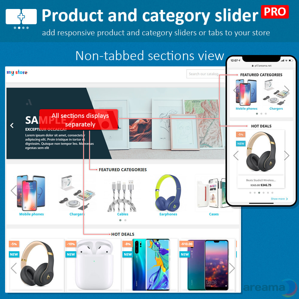 module - Zusatzinformationen & Produkt-Tabs - Product slider PRO + categories + related products - 7