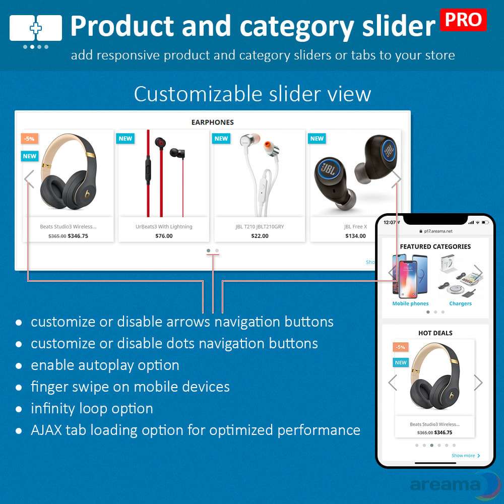 module - Zusatzinformationen & Produkt-Tabs - Product slider PRO + categories + related products - 8