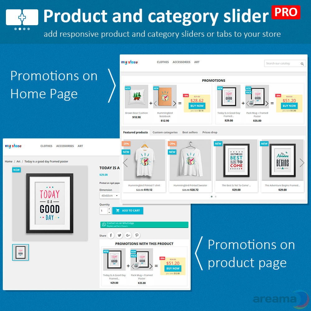 module - Zusatzinformationen & Produkt-Tabs - Product slider PRO + categories + related products - 13