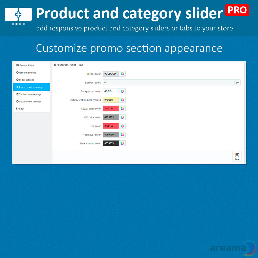 module - Zusatzinformationen & Produkt-Tabs - Product slider PRO + categories + related products - 16
