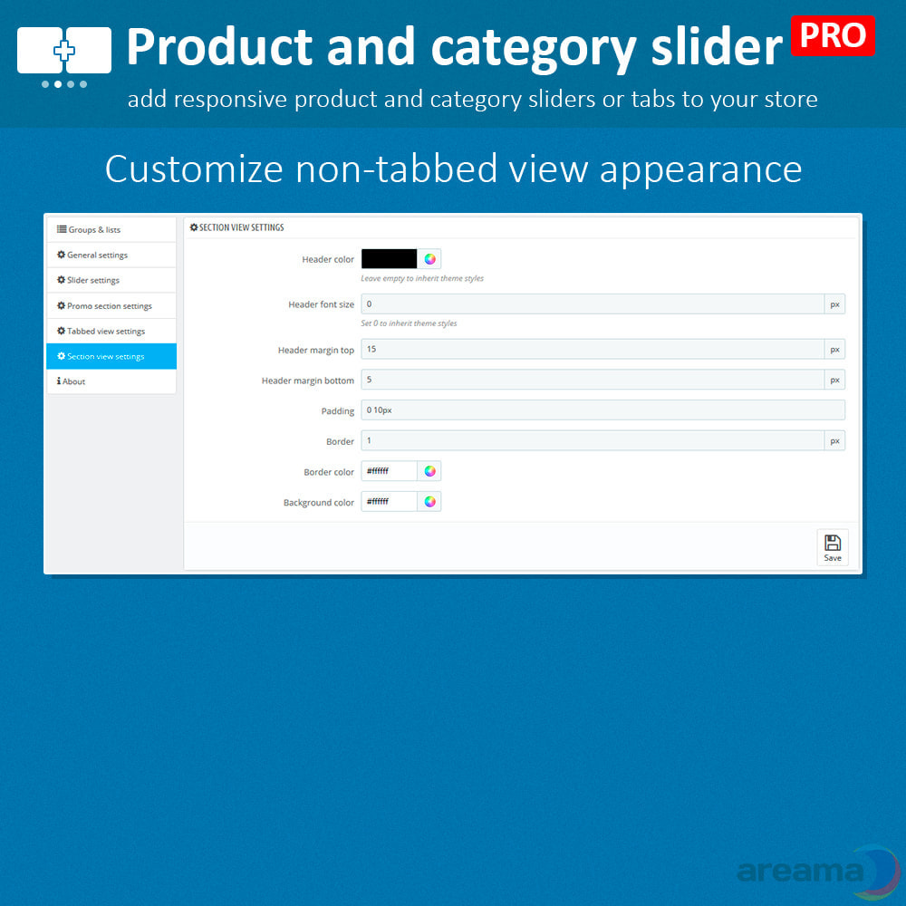 module - Zusatzinformationen & Produkt-Tabs - Product slider PRO + categories + related products - 18